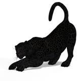 Jaguar del negro del gato grande Foto de archivo