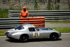 1962 Jaguar E‐Type at Monza Circuit Royalty Free Stock Photography