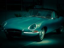 Jaguar E Tipo, 1966 fotografia stock