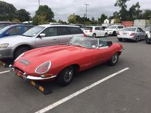 Jaguar 1961 E tipo fotografia stock libera da diritti