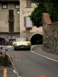 Jaguar E-typ på Bergamo den historiska granda prixen 2015 Royaltyfria Bilder