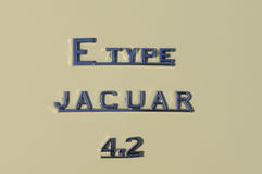 Jaguar E type 4.2 Stock Photos