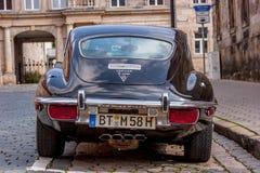 Jaguar E-Type. A classic Jaguar E-Type parked in the street Stock Photos