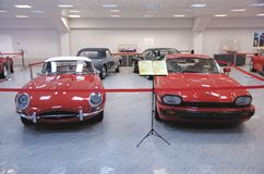 Jaguar E-type and Jaguar XJS Royalty Free Stock Image