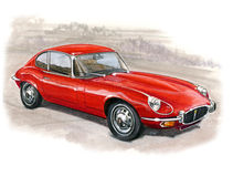 Jaguar E-Type Series III 2+2 Royalty Free Stock Photos