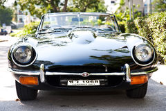 Jaguar E-Type on Vintage Car Parade Stock Photography