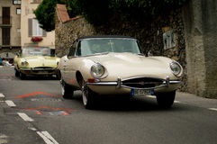 Jaguar E-Types At Bergamo Historic Grand Prix 2015 Stock Photography