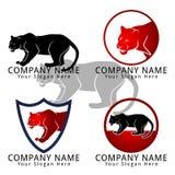 Jaguar eller Tiger Concept Logo Arkivfoto