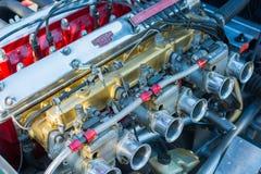Jaguar engine car on display Royalty Free Stock Images