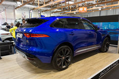 Jaguar F-Pace. Displayed at 3rd edition of MOTO SHOW in Cracow Poland. Exhibitors present  most interesting aspects of the automotive industry Stock Image