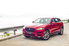 Jaguar F-Pace 2016 Test Drive Day Royalty Free Stock Photography