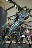JAGUAR F1 racing car. Guangzhou, China - November 19, 2016: JAGUAR Formula One car was exhibited in the 14th China Guangzhou International Automobile Exhibition Stock Images