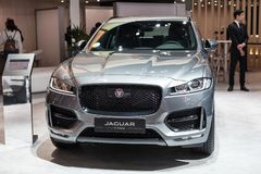 Jaguar-F-Tempo in Automobiel Barcelona 2019 royalty-vrije stock foto