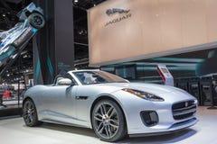 Jaguar F tipo su esposizione durante l'esposizione automatica della LA fotografia stock libera da diritti
