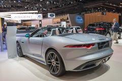 Jaguar F tipo su esposizione durante l'esposizione automatica della LA fotografie stock