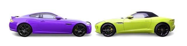 Jaguar F typbilar arkivfoton