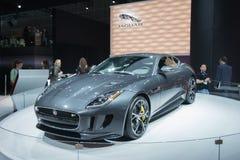 Jaguar-F-Type auto 2016 op vertoning Stock Afbeelding