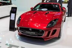 JAGUAR-F-TYPE auto op vertoning Stock Afbeelding