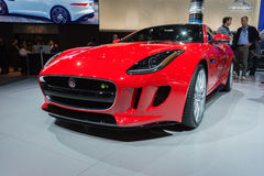 Jaguar F-Type car on display at the LA Auto Show. Royalty Free Stock Images