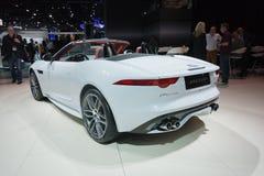 Jaguar-F-Type convertibele auto op vertoning Stock Afbeeldingen