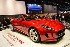 The Jaguar F-Type Convertible car on dispay at the Chicgago Auto Show Stock Photography