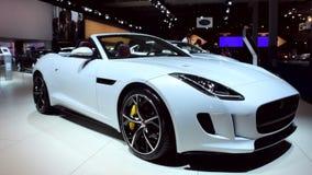 Jaguar F-Type convertible sports car stock footage