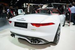 Jaguar-F-Type convetible 2016 op vertoning Stock Afbeelding