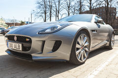Jaguar F-Type coupe S, close up Royalty Free Stock Image