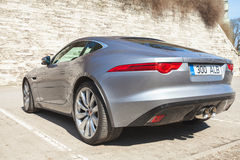 Jaguar F-Type coupe S, rear view Royalty Free Stock Photo