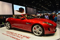 The 2016 Jaguar F-Type on dispay at the Chicgago Auto Show Royalty Free Stock Photo