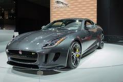 Jaguar-F-Type 2016 op vertoning Stock Afbeelding