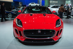 Jaguar F-Type R  car on display at the LA Auto Show. Royalty Free Stock Photos