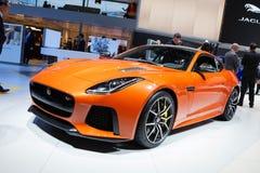 Jaguar-F-Type SVR Royalty-vrije Stock Afbeeldingen