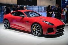 Jaguar-F-Type SVR Coupésportwagen Stock Afbeeldingen