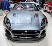 A Jaguar F Type SVR exhibit at the 2016 New York International Auto Show Stock Images