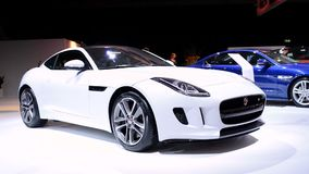 Jaguar F-Type two-seat convertible sports car stock footage