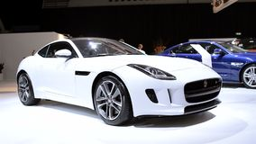 Jaguar F-Type two-seat coupe sports car stock video footage