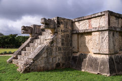 Jaguar głowy Wenus platforma, Chichen Itza, Jukatan, Meksyk Obraz Royalty Free