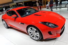 Jaguar at the 2014 Geneva Motorshow. The new Jaguar F Type Coupe at the 2014 Geneva Motorshow Stock Image