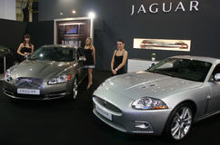 Jaguar goes to India. Famous Jaguar car automaker is sold to Indian Tata company Royalty Free Stock Image