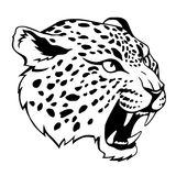 Jaguar head. Stylized jaguar head  black illustration Royalty Free Stock Photos