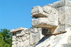 Jaguar heads of the Venus Platform, Chichen Itza Royalty Free Stock Images