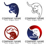 Jaguar Hunting Concept Logo Stock Photography