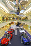 Jaguar land rover car show at festival walk shopping mall, hong kong Stock Image
