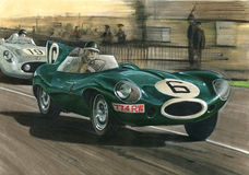 Jaguar 1955 Le Mans Jaguar D-Type Stock Photos