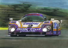 Jaguar Le Mans XJR9 Royalty Free Stock Photo