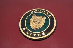 Jaguar 4 liter emblem Royaltyfria Foton