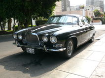 Jaguar Mark X parked in San Isidro district of Lima Royalty Free Stock Image