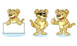 Jaguar Mascot Vector happy Stock Photos