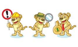 Jaguar Mascot Vector with money Stock Images